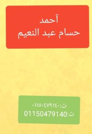 أحمد حسام  طالب اون لاين